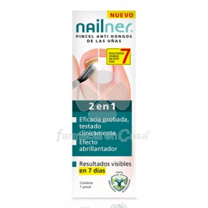 Nailner 2 en 1 antihongos uñas pincel 5ml