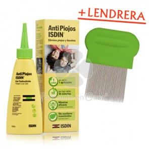 Isdin Antipiojos gel pediculicida 100ml + lendrera