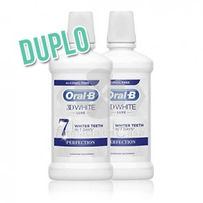 Oral-B 3d white luxe colutorio brillo sabor menta duplo 2x500ml