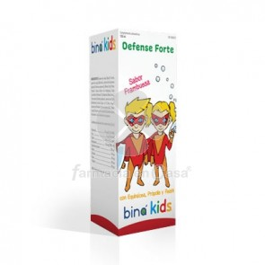 Bina kids defensas forte jarabe sabor frambuesa 150ml