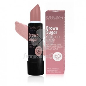 Camaleon brown sugar balsamo labial color suave spf 50 4gr