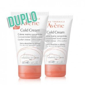 Avene Cold Cream crema de manos duplo 2x50 ml