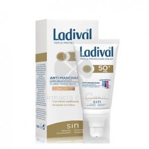 Ladival Anti-Manchas Fluido Toque Seco con Color Spf50 50ml
