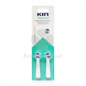 Kin Recambio cepillo dental eléctrico total clean 2 uds