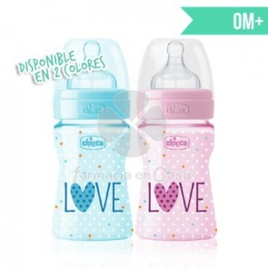Chicco Benessere biberón tetina silicona well-being 0m+ 150ml