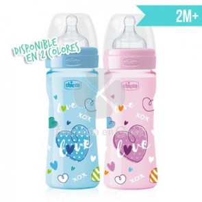 Chicco Benessere biberón tetina silicona well-being 2m+ 250ml