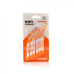KIN CEPILLO INTERDENTAL SUPERMICRO NARANJA 6 UDS