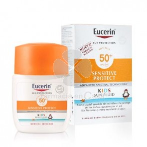 Eucerin Solar Spf50+ Sensitive Protect Fluido Niños 50ml