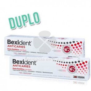 Bexident Pasta Dental Anticaries Duplo 2x25ml