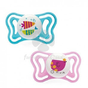 Chicco Physio Forma Light Chupete Silicona Rosa 16-36m 2 Uds
