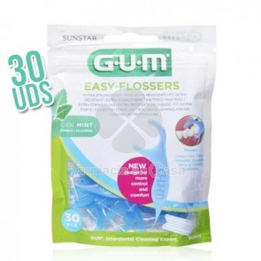 Gum Easy-Flossers Seda Dental Facil de Usar 30 Uds