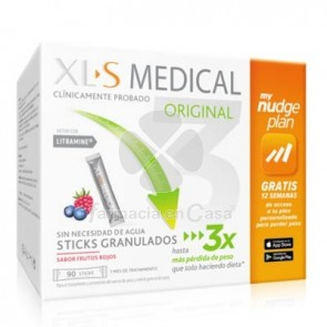XLS Medical Original My Nudge Plan Sabor Frutos Rojos 90 Sticks