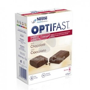Optifast Barritas chocolate 6 uds