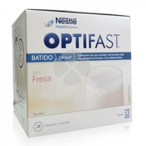 Optifast Batido Fresa 12 Sobres 55gr