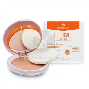 Heliocare Compacto Coloreado Spf 50 Light con Esponja 10 gr