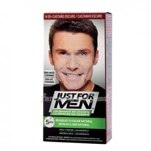Just for Men Colorante castaño oscuro champu 30ml