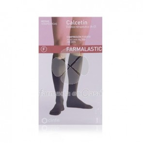 Farmalastic Calcetin normal negro t/med