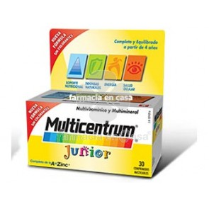 Multicentrum Junior 30 comp frambuesa/limón