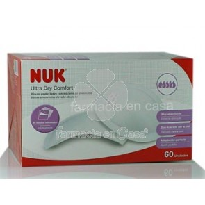 Nuk Discos protectores ultra dry 60uds