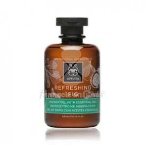 Apivita Refreshing Fig Gel de Baño Aceites Esenciales 300ml