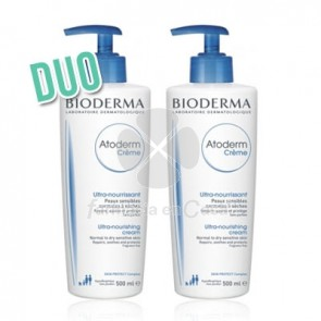 Bioderma Atoderm Crema con Dispensador Duo 2x500ml