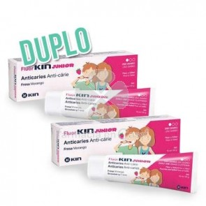 Fluorkin Gel Junior Fresa Duplo 2x75ml