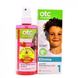 OTC Elimina Locion Perimetrina 125ml + Spray Desenredante 250ml