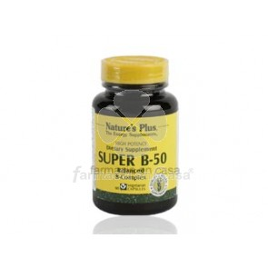 Nature's Plus Nature plus super b-50 complex vitamina b 60 cápsulas