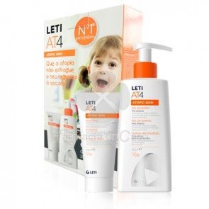 Leti At4 intensive crema emoliente p/atópica 100ml+gel baño 250ml