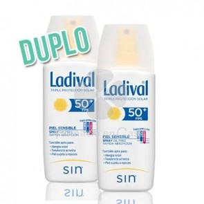 Ladival Piel Sensible Spray Oil Free Spf50+ Duplo 2x150ml