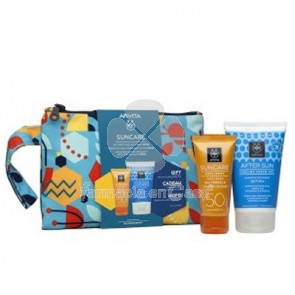 Apivita Suncare Spf50 Crema Solar Antimanchas 50ml+Aftersun 100ml