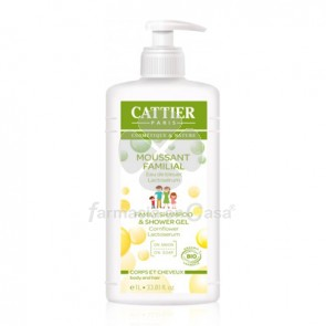 Cattier Gel-Champu Espumoso Familiar Agua De Aciano 1l