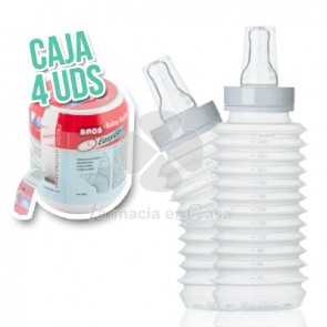 Amos baby bottle biberón flexible y ligero 250ml 4 uds