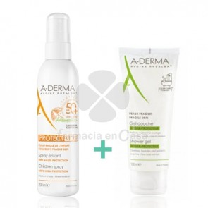 Aderma Protect Kids Spray Solar Spf50+ 200ml + Gel Ducha 100ml