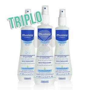 Mustela Agua colonia sin alcohol triplo 3x200ml