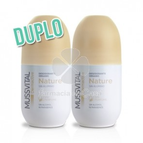 Mussvital Dermoactive desodorante nature roll-on duplo 2x75ml
