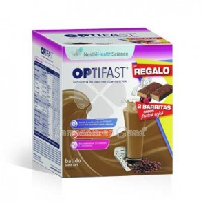 Optifast Batido cafe 9 sobres + barrita frutos rojos 2 uds