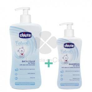 Chicco Natural Sensation Gel Baño 750ml + Champu 300ml