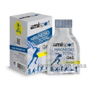 Lajusticia Amlsport magnesio total gel 12 uds bebibles.